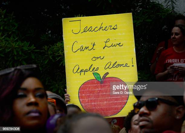 Crowds gather during the Rally for Respect outside the North Carolina Legislative Building on May 16 2018 in Raleigh North Carolina Several North...