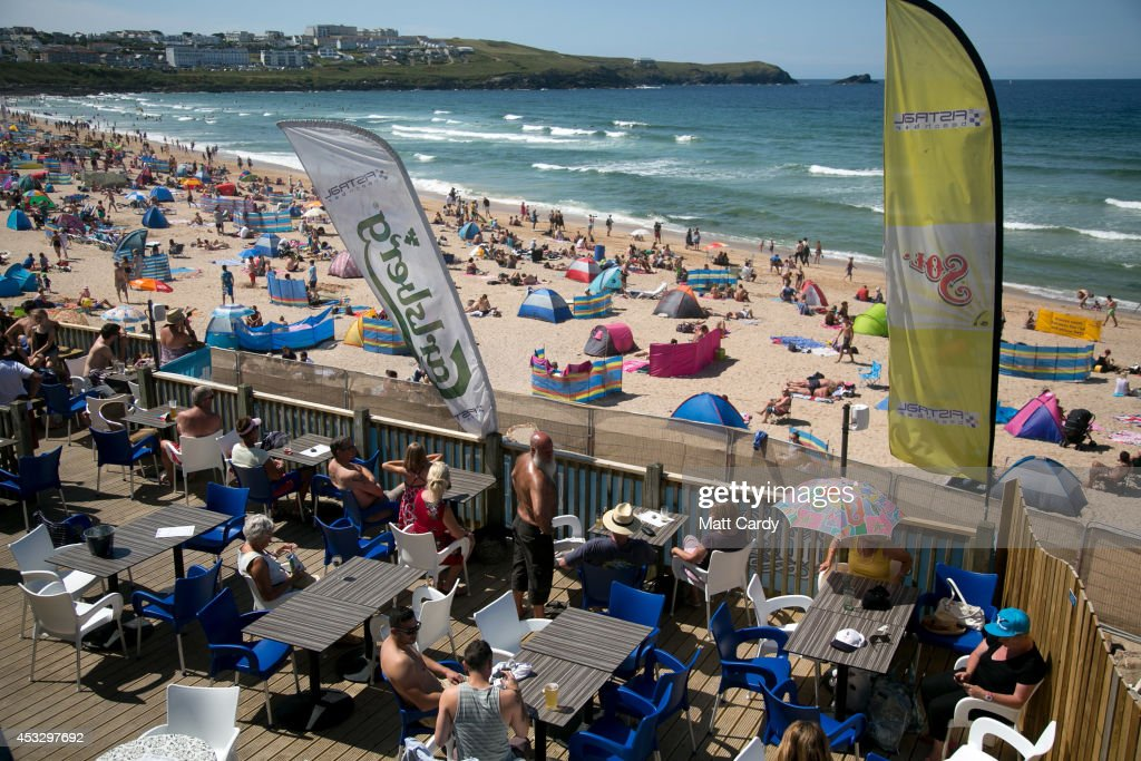 Crowds gather on Fistral Beach on the second day of the Boardmasters surf and music festival in Newquay on August 7, 2014 in Cornwall, England. Since 1981, Newquay has been playing host to the Boardmasters surfing competition - which is part of a larger five-day surf, skate and music festival and has become a integral part of the continually popular British surf scene growing from humble beginnings, to one of the biggest events on the British surfing calendar. It now attracts professional surfers from across the globe to compete on the Cornish beach that is seen by many as the birthplace of modern British surfing.