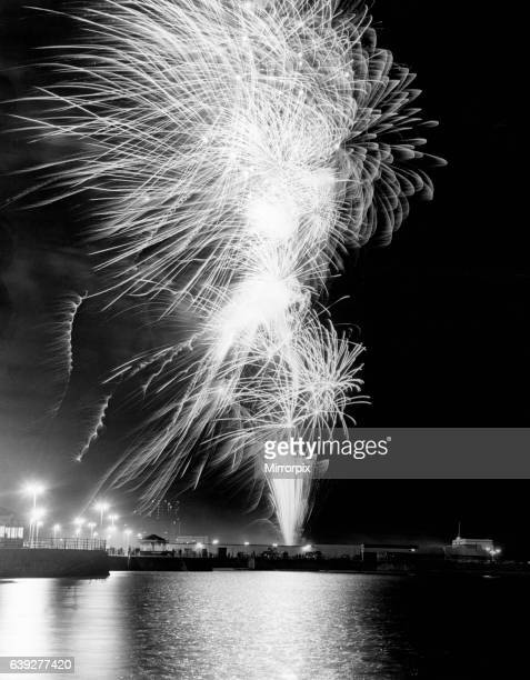 Crowds gather on the sea front and promenade at New Brighton to watch a spectacular Bonfire night firework display organised by Wirral Council...