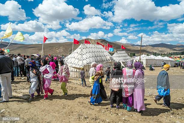 Crowds gather to celebrate Imilchil Morocco's marriage and betrothal festival