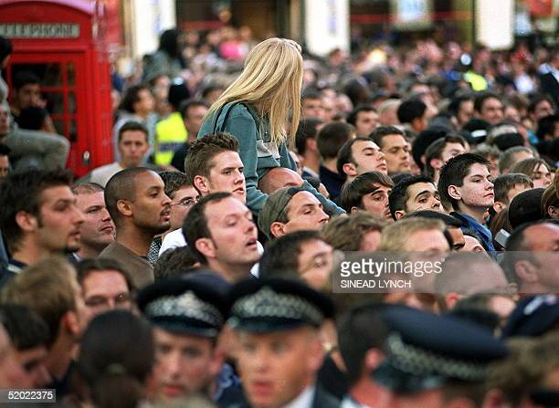 Crowds gather to see the stars of the new Star Wars movie, The Phantom Menace arrive for the Royal Premier of the eagerly awaited film at the Odeon...