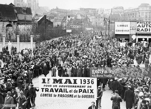 Crowds Gathered In The Streets Of Brussels To Celebrate May Day And Demonstrate Against Fascism On May 1 1936