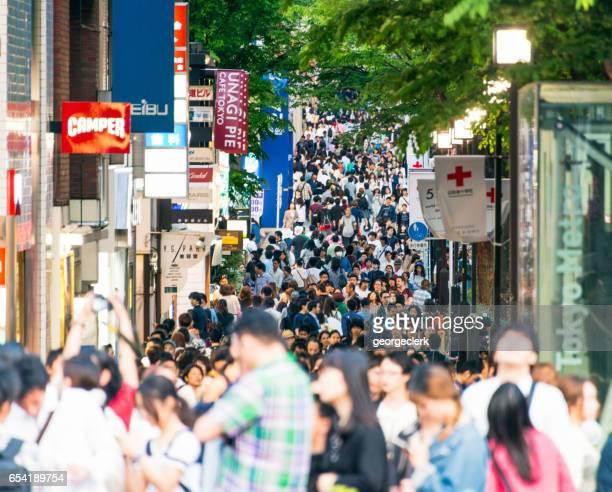 Multitudes en Harajuku, Tokio