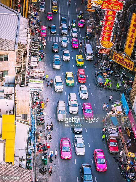 crowds in rush hour traffic, city street - association of southeast asian nations stock pictures, royalty-free photos & images