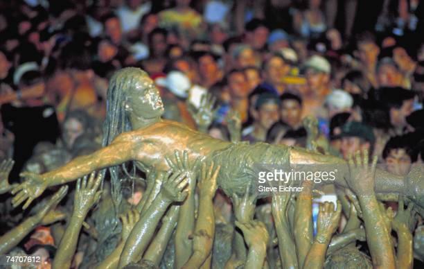 Crowds in Saugerties, New York