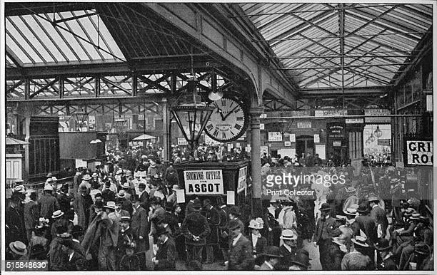 Crowds in Waterloo Station heading off to Ascot races London circa 1900 From Living London Vol 1 edited by George R Sims [Cassell and Company Limited...