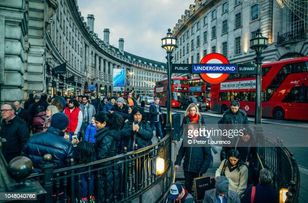 Crowds of Christmas shoppers in London