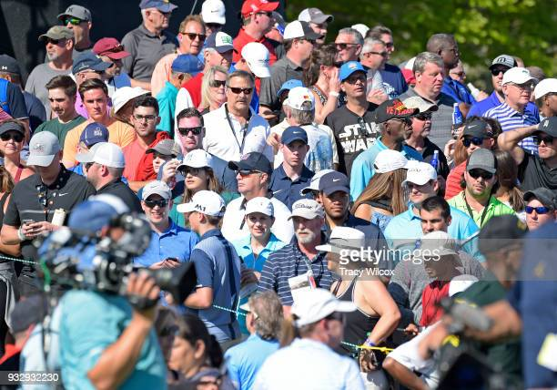 Crowds of fans during the second round of the Arnold Palmer Invitational presented by MasterCard at Bay Hill Club and Lodge on March 16 2018 in...