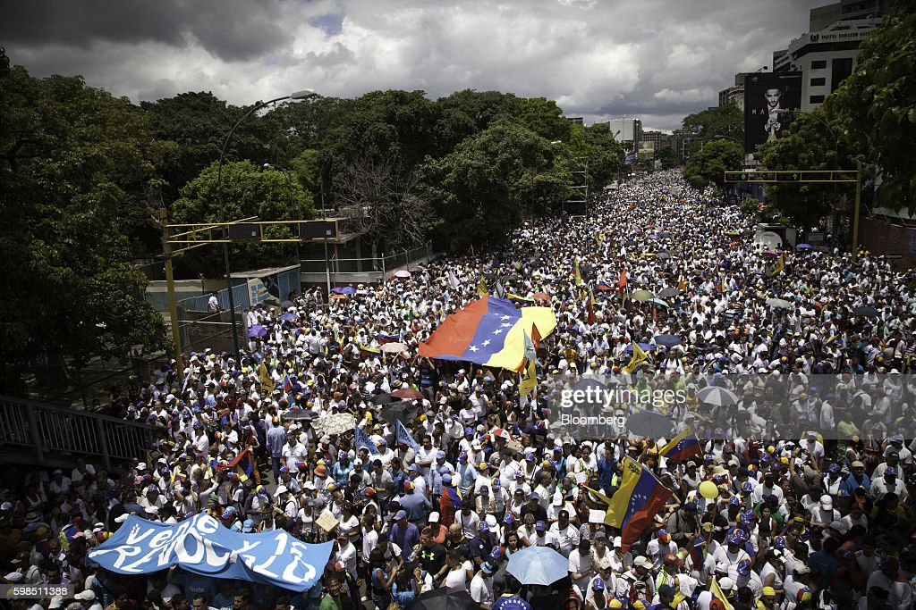 As Many As 1 Million Venezuelans Expected To March In Opposition Protest : News Photo