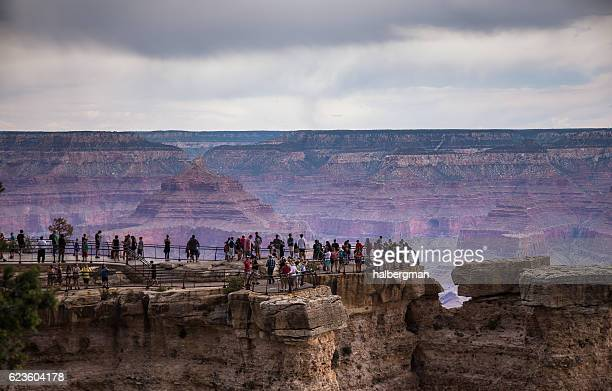 Crowds of People at Mather Point in the Grand Canyon