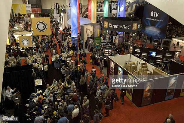 Crowds of people attend the MacWorld expo on January 10, 2007 in San Francisco, California. The star of the show is the launch of the new iPhone...