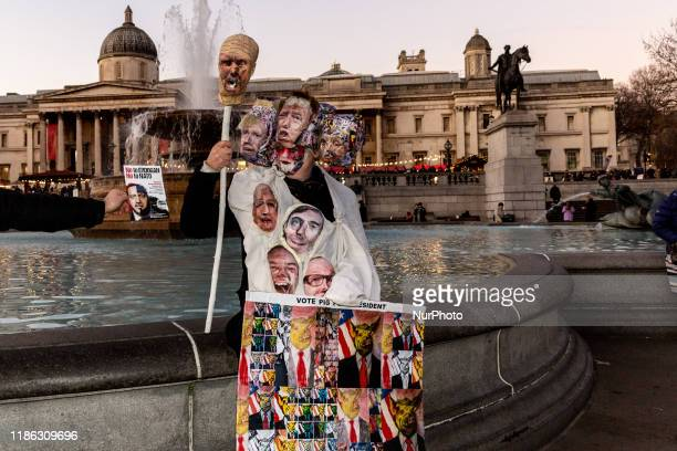 Crowds of people marched from Trafalgar Square to Buckingham Palace in protest of military activity of US President Donald Trump with support of NATO...
