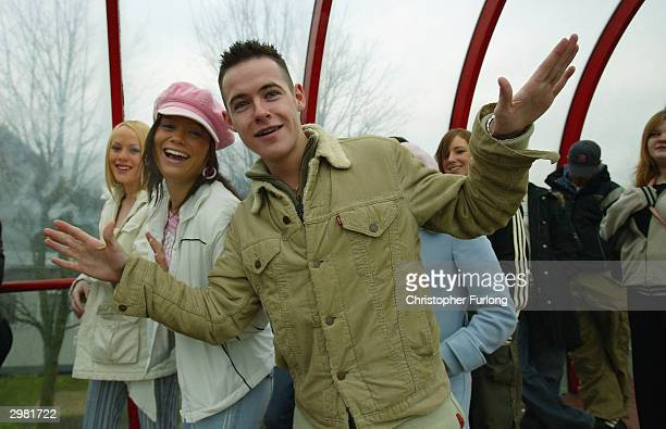 Crowds of people queue up for the auditions to appear on 'Big Brother V' at the SECC on February 14 2004 in Glasgow Scotland First open audition...