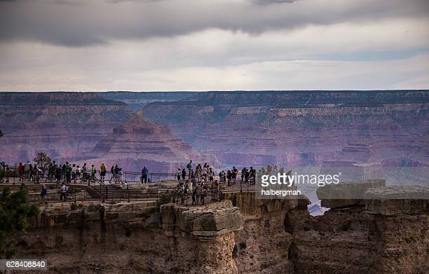 Crowds of Sightseers at the Grand Canyon