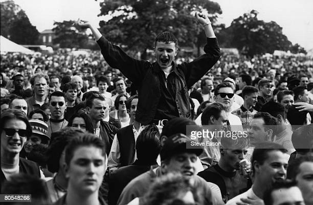Crowds on the annual Gay Pride march promoting gay and lesbian rights London 19th June 1993