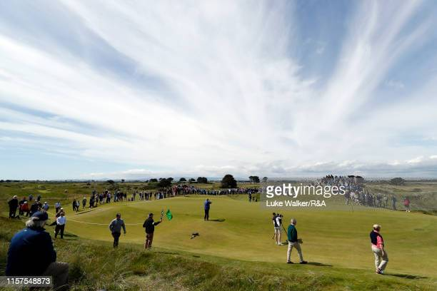 Crowds on the golf course during the finals during day six of the RA Amateur Championship at Portmarnock Golf Club on June 22 2019 in Portmarnock...