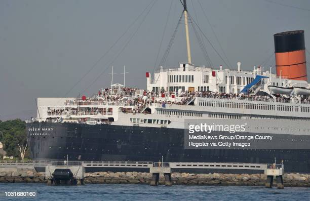 USA Crowds pack the Queen Mary in Long Beach Harbor as they watch the start of the 62nd Annual Catalina Ski Race on July 17 in Long Beach Harbor...