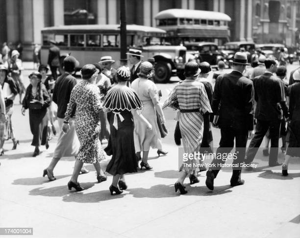 Crowds Shopping 34th Street and Fifth Avenue B Altman Co New York New York 1920s