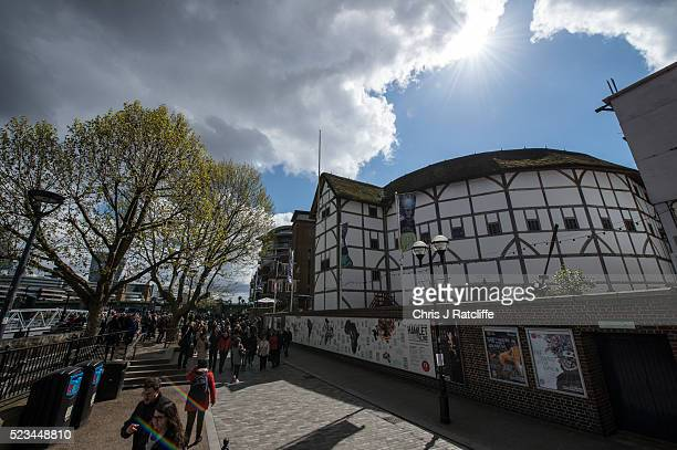 Crowds walk past Shakespeare's Globe Theatre as celebrations take place across the capital to mark 400 years since the death of William Shakespeare...