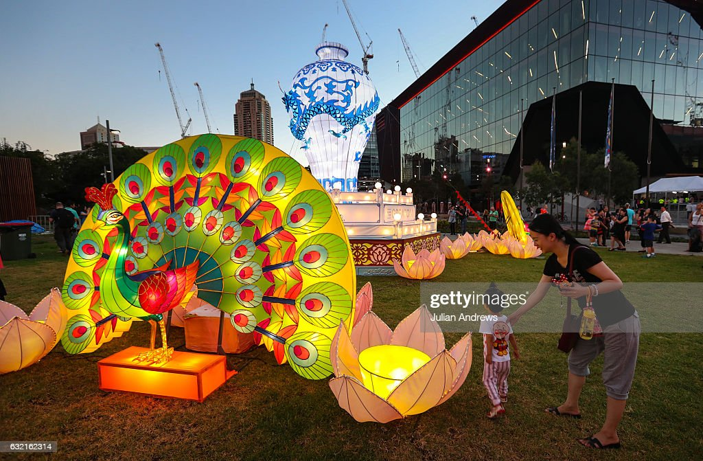 Australia's Largest Lantern Display Lights For Chinese New Year In Sydney : News Photo