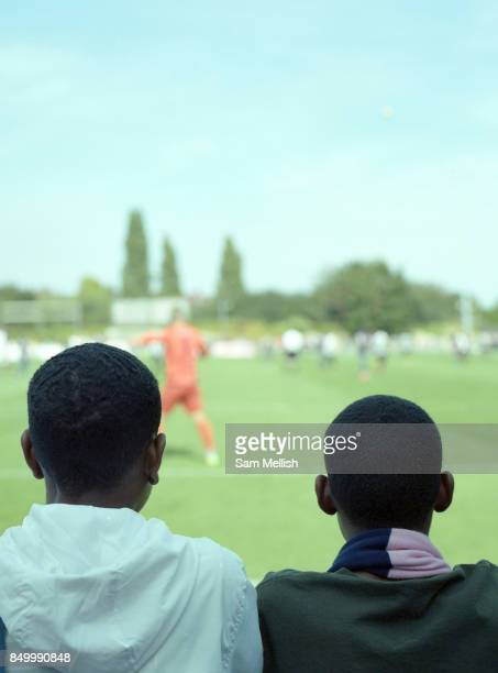 Crowds watch Dulwich Hamlet FC Vs Tooting Mitcham United FC during the 'South London Derby' on August bank holiday Monday on 28th August 2017 in...