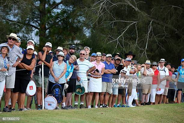 Crowds watch during day three of the Australian PGA Championships at RACV Royal Pines Resort on December 3 2016 in Gold Coast Australia