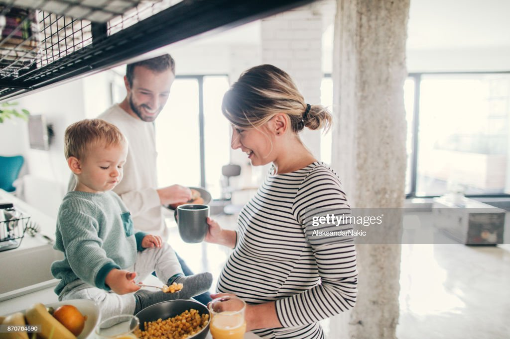 Crowdy in our kitchen : Stock Photo