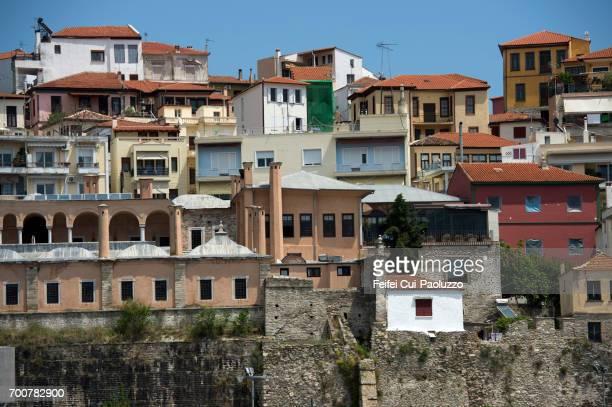 Crowed houses at Kavala, Thrace Region, eastern Macedonia, Greece