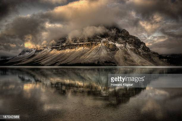 Crowfoot Mountain Reflected Onto Bow Lake