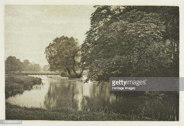 Crow-Island Stream, River Wye, 1880s. A work made of photogravure, plate xxxii from the album 'the compleat angler or the contemplative man's...