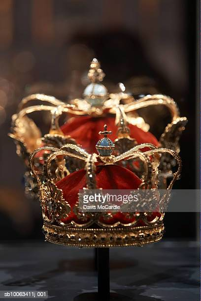 crown jewels in rosenberg castle, copenhagen. denmark. - crown stock pictures, royalty-free photos & images