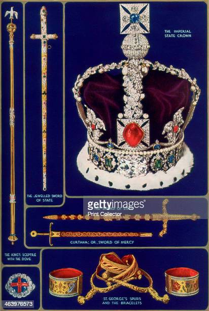 Crown Jewels of the United Kingdom 1937 The Imperial State Crown The Sword The King's Sceptre with the Dove The Ring St George's Spurs and the...