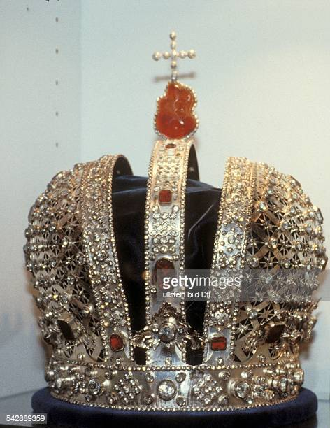 Crown jewels Russian tsars Replica of the crown of the Russian tsars 2000