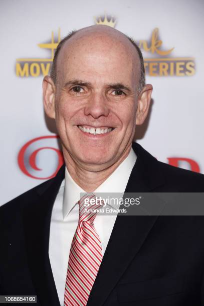 Crown Media Family Networks President and CEO William J Abbott arrives at the Hallmark Channel 'Once Upon A Christmas Miracle' screening and holiday...