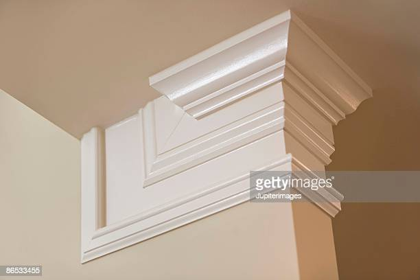 crown molding in home - crown molding stock photos and pictures