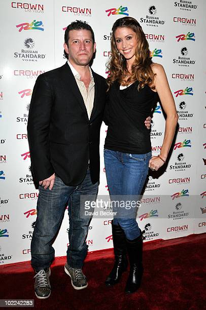 Crown Nightclub owner Darin Feinstein and actress Shannon Elizabeth arrive at the grand opening of the Crown Nightclub at the Rio Hotel Casino early...