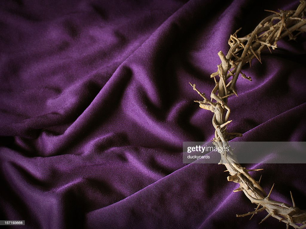 crown of thorns background stock photo