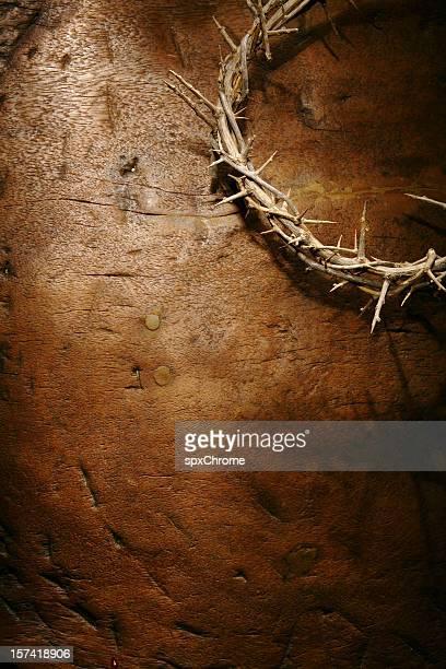 Corona di spine su sfondo