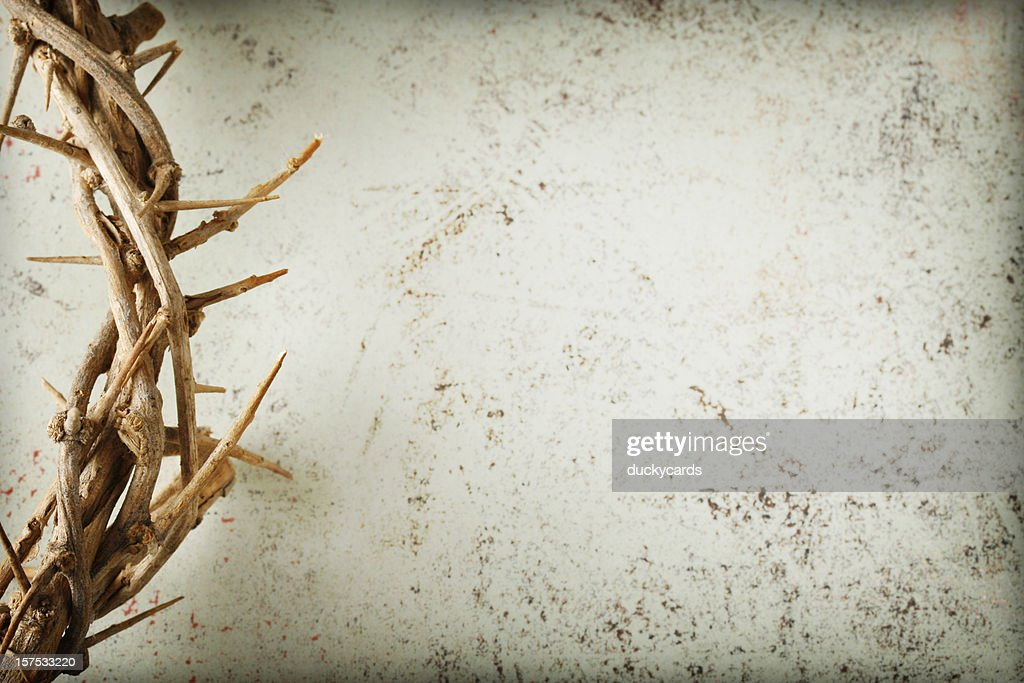 Crown of Thorns on Grunge Background : Stock Photo