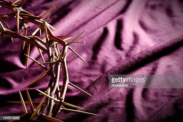 Crown of Thorns on Royal Purple Background