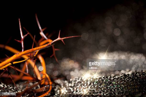 crown of thorns - resurrection religion stock pictures, royalty-free photos & images