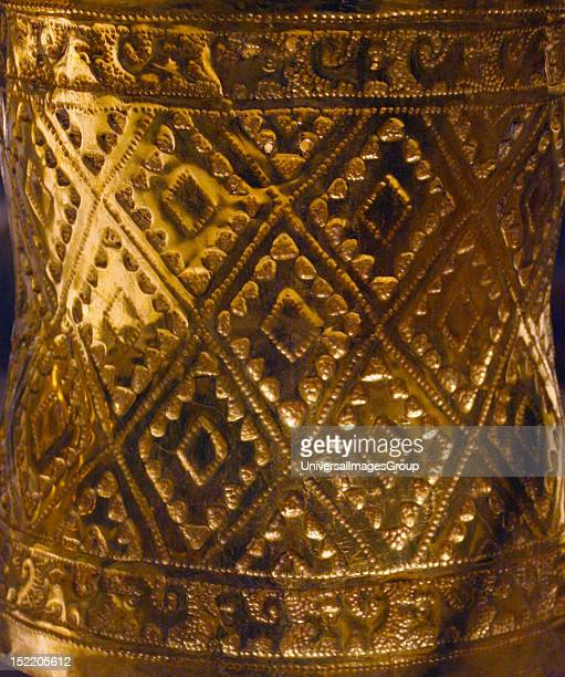 Sican 9th11th century Hammered gold In the burial of a highstatus Sican lord