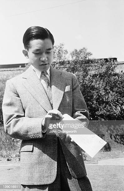 Crown Prince Akihito of Japan later Emperor Akihito of Japan during a visit to London to attend the Coronation of Queen Elizabeth II May 1953...