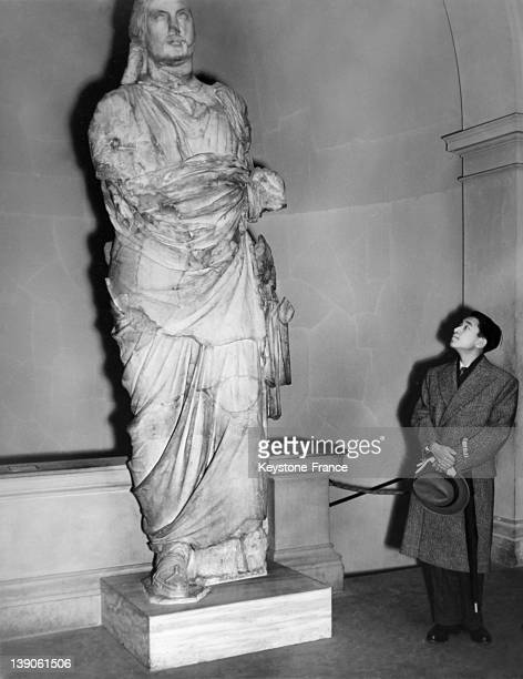 Crown Prince Akihito of Japan visit the British Museum on April 30 1953 in in London United Kingdom