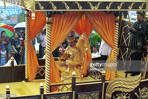 Crown Prince Al Muhtadee Billah leaves the Istana Nurul Imam palace after his proclamation