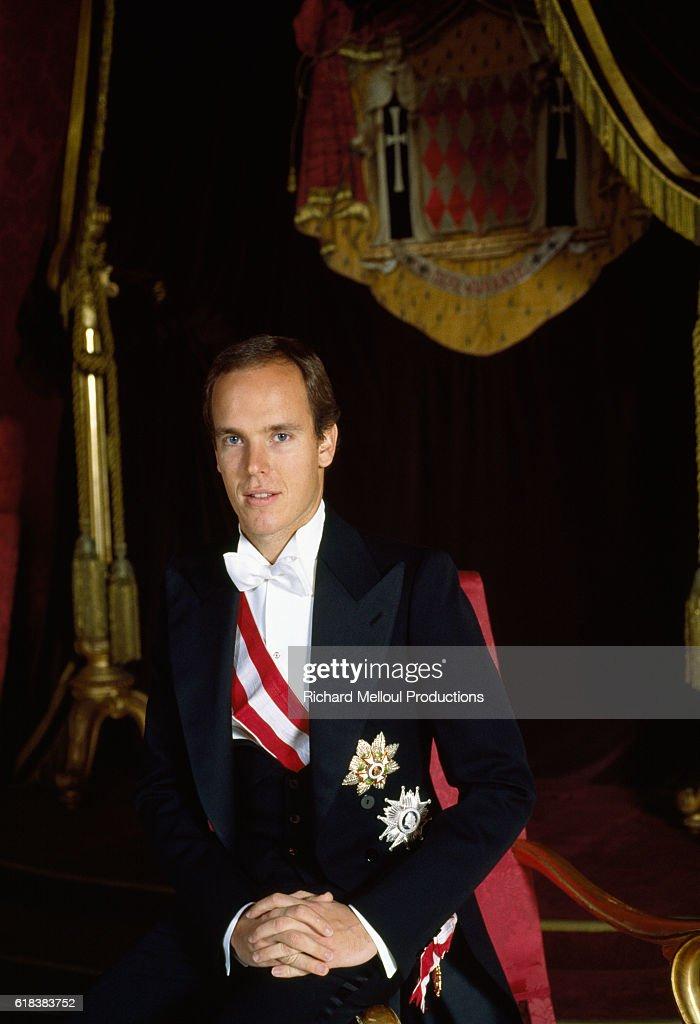Crown Prince Albert of Monaco in Formal Dress : Photo d'actualité