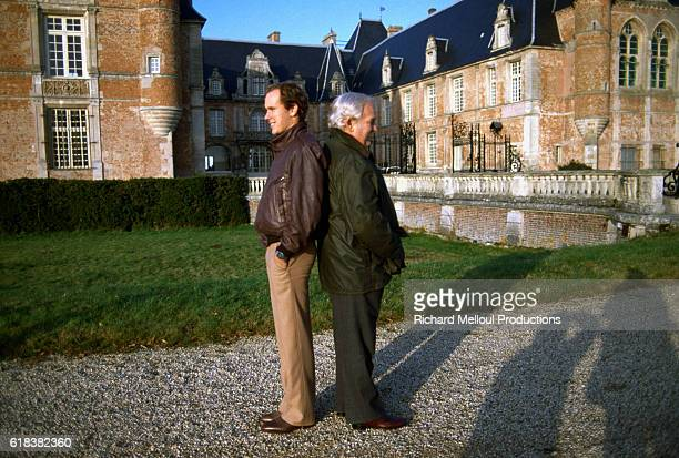 Crown Prince Albert of Monaco stands back to back with his father, Prince Rainier III, at the royal Grimaldi family's French villa. Two months...