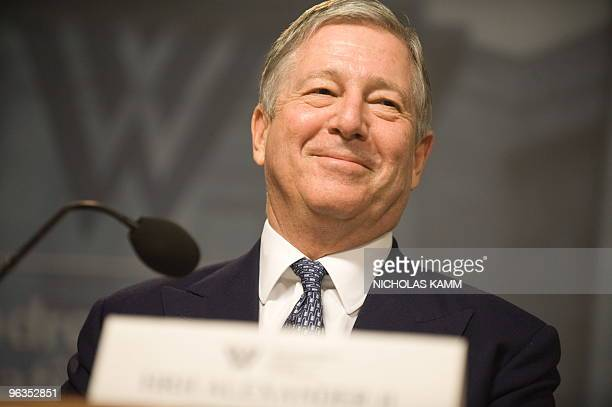 Crown Prince Alexander II of Serbia smiles while being introduced at the Woodrow Wilson Center in Washington on February 2, 2010 during a forum...