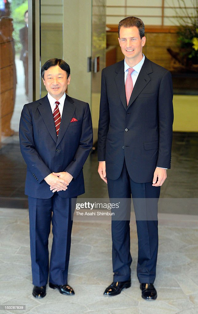 Crown Prince Alois Of Liechtenstein Visits Japan