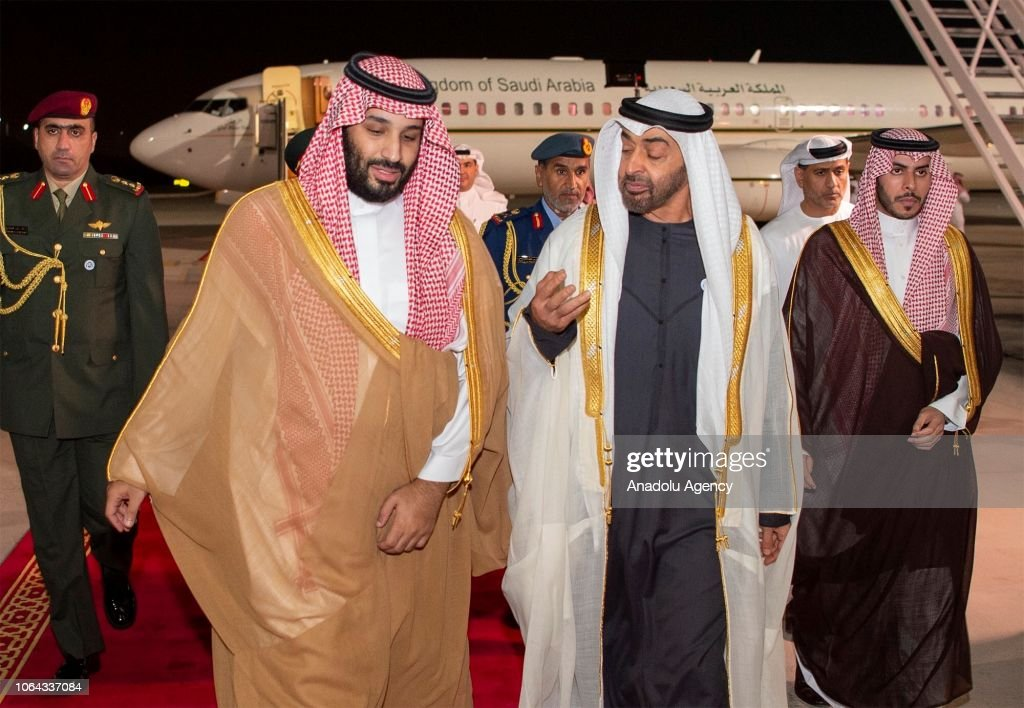 Mohammad bin Salman - Mohammed bin Zayed Al Nahyan meeting : News Photo